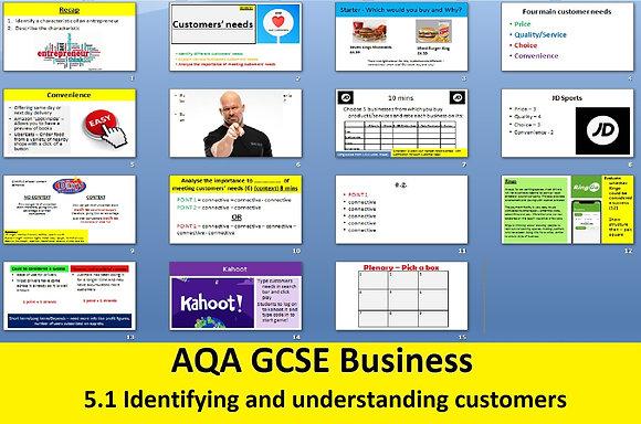 AQA GCSE Business 9-1 - 5.1 Identifying and understanding customers
