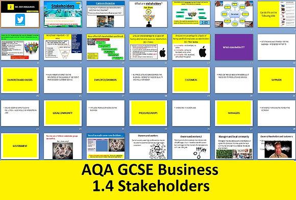 AQA GCSE Business 9-1 - 1.4 Stakeholders