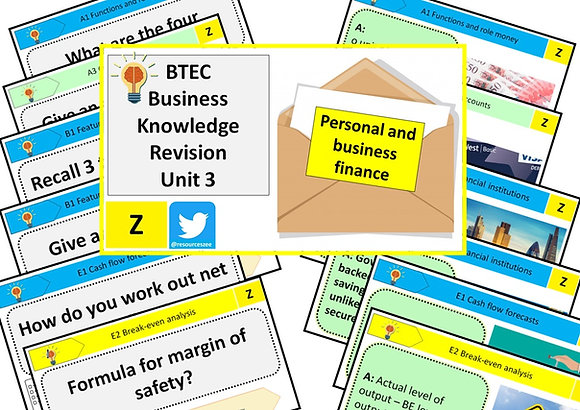 BTEC Business unit 3 knowledge revision - 116 flashcards