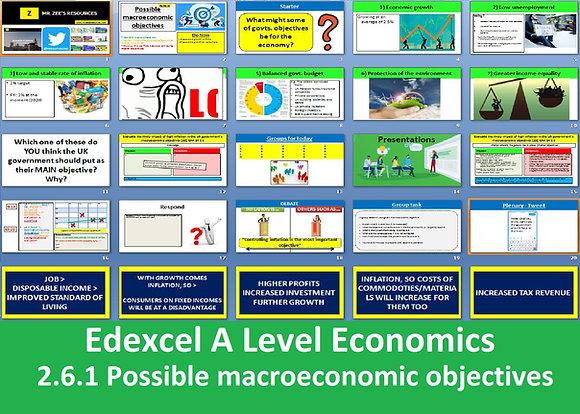 2.6.1 Possible macroeconomic objectives - Theme 2 Edexcel A Level Economics