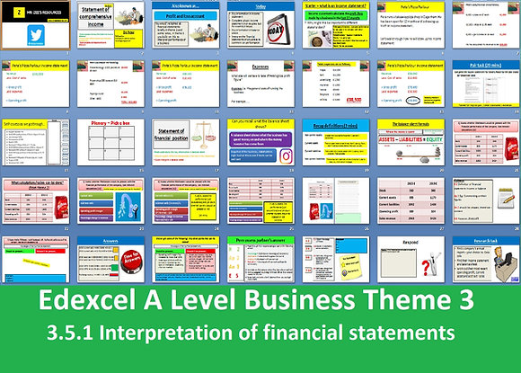 3.5.1 Interpretation of financial statements - Theme 3 Edexcel A Level Business