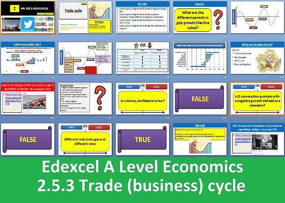 2.5.3 Trade (business) cycle - Theme 2 Edexcel A Level Economics