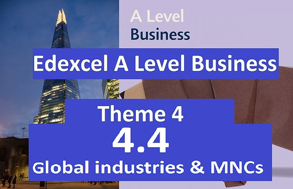 Edexcel A Level Business Theme 4 - 4.4 Global industries and companies
