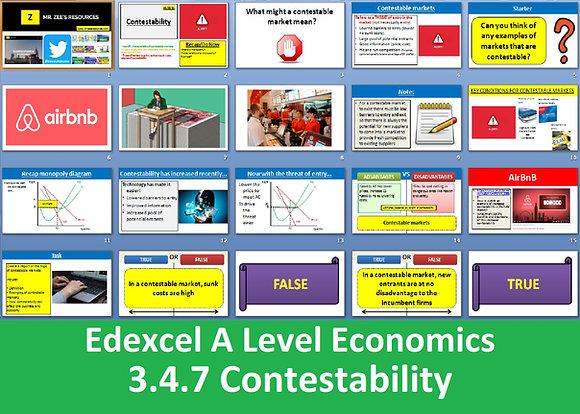 3.4.7 Contestability - Theme 3 Edexcel A Level Economics
