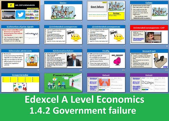 1.4.2 Government failure - Theme 1 Edexcel A Level Economics