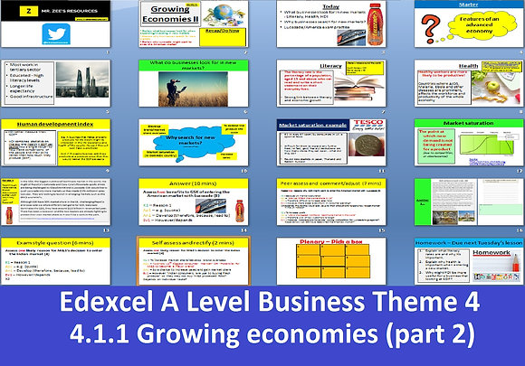 Edexcel A Level Business Theme 4 - 4.1.1 Growing economies part 2