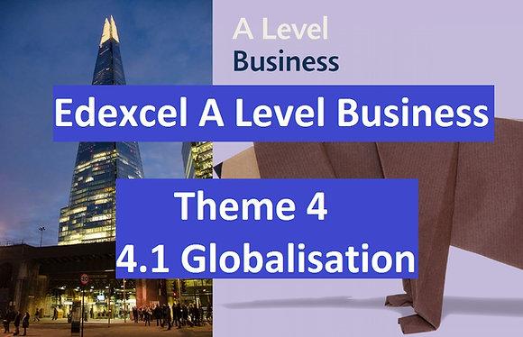 Edexcel A Level Business Theme 4 - 4.1 Globalisation