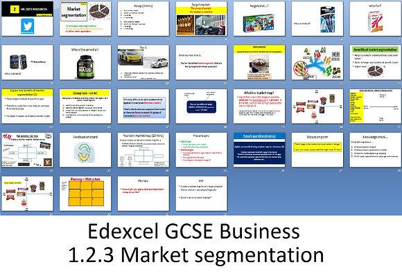 Edexcel GCSE Business - Theme 1 - 1.2.3 Market segmentation
