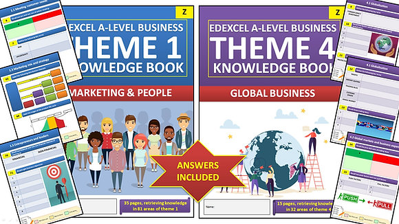 Edexcel A Level Business Paper 1 Interactive Knowledge Books