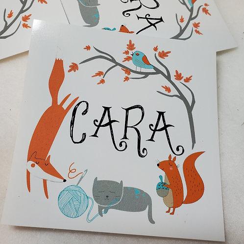 CARA Vinyl Sticker