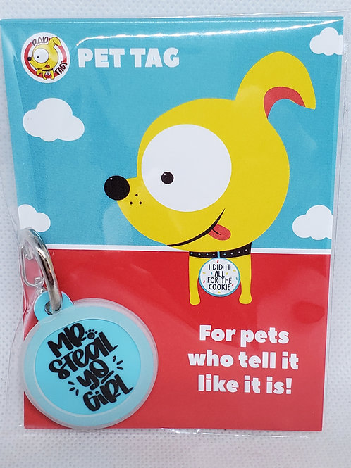 BAD TAGS: Mr. Steal Yo Girl Pet Tag