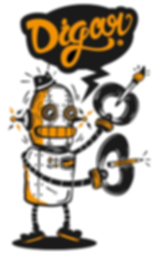Digar Robot ilustracion mexico