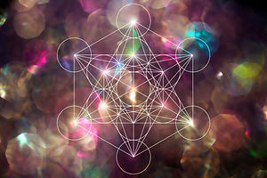 Abstract metatrone merkabah sacred geometry with lens blur effect.jpg