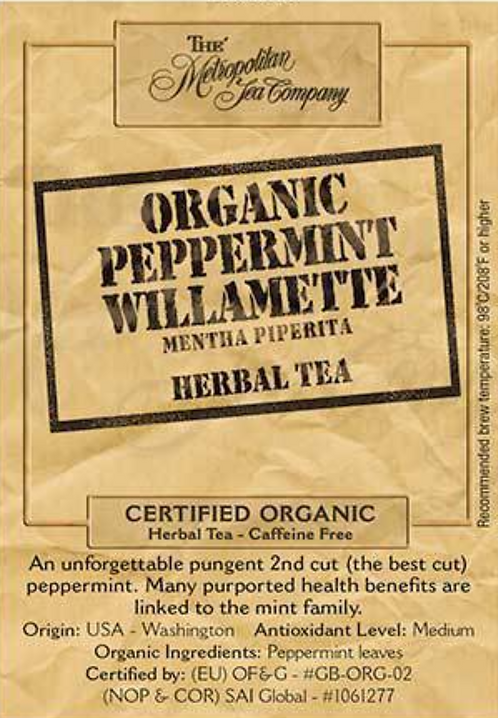 Organic Peppermint Willamette