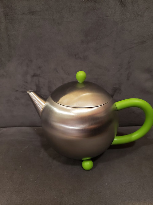 2-3 Cup Stainless Steel Teapot - Green