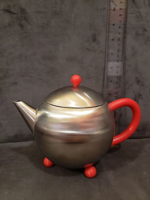 2-3 Cup Stainless Steel Teapot - Red