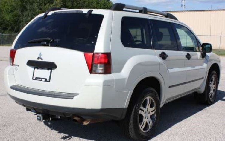 2006 Mitsubishi Endeavor White Rear 1