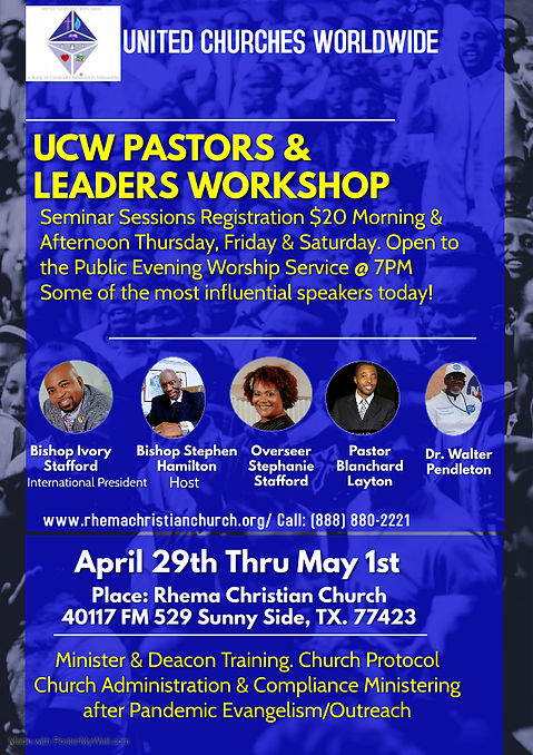 Rhema Christian Church Event Flyer 1 - M