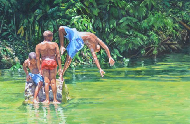 """Boys at The River"""