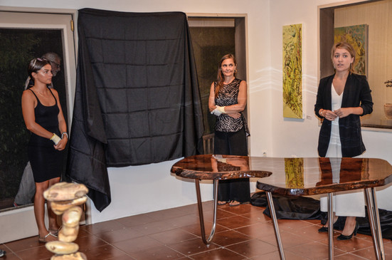 Unveiling new artworks
