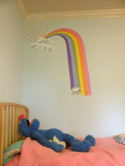Children's mural detail