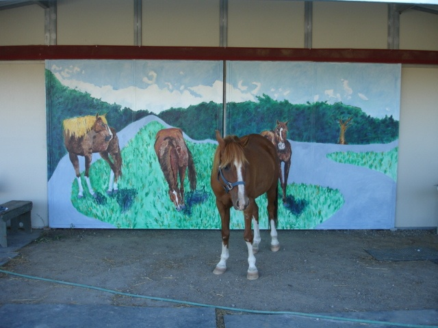 """Ropin' the Wind Ranch"" mural"
