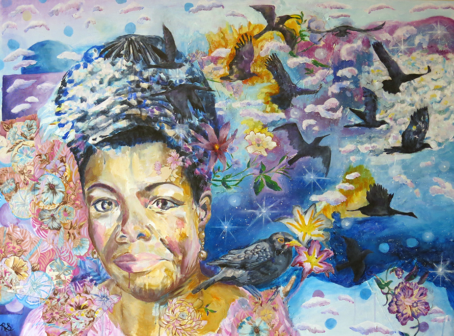 Maya Angelou Memorial Mural