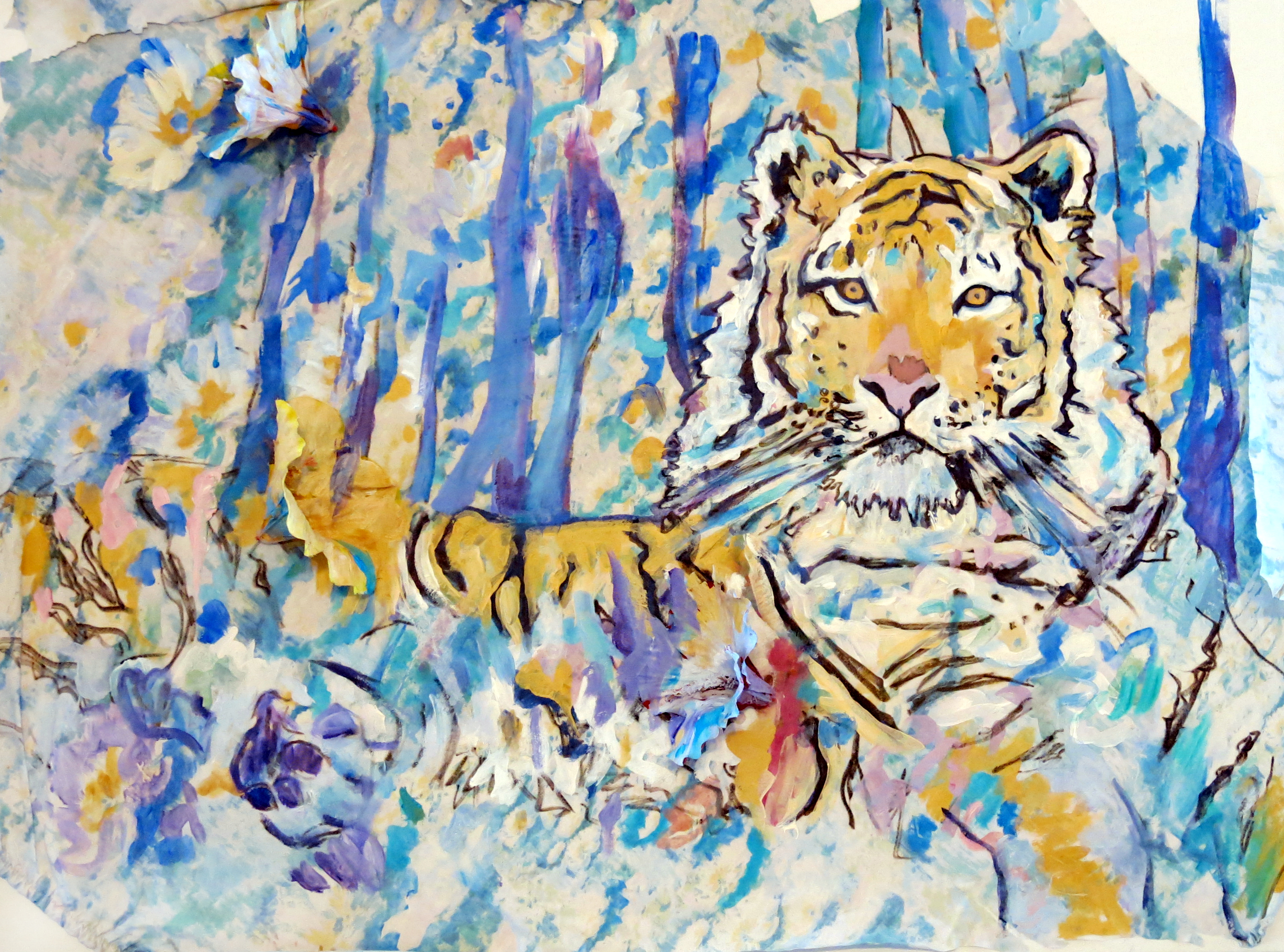 """Tigers in Blue Weather"""