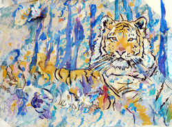 """""""Tigers in Blue Weather"""""""