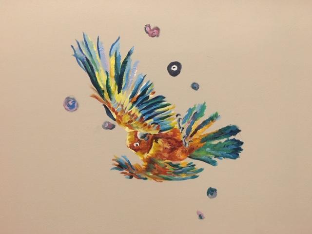 Escaping Birds Detail