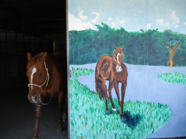 """Ropin' the Wind"" Ranch mural"