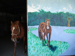 """""""Ropin' the Wind"""" Ranch mural"""