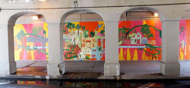 """""""Mitsingen"""" mural"""
