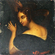 Painting_miniature_woman_tuning_harp_183