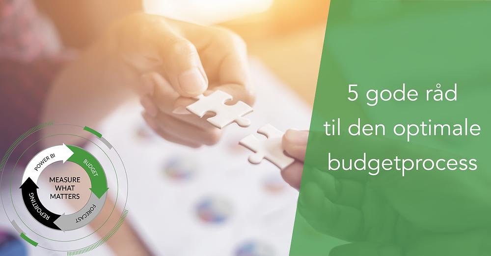 5 gode råd til en optimal budgettering