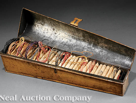Domed-top string box, Neal Auction company