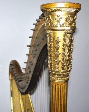22-string single-action harp by J & J Erat