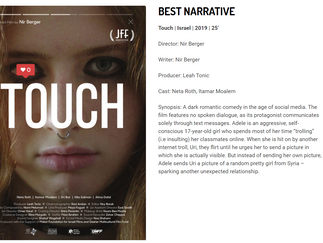 TOUCH Wins Best Narrative at STTP Festival