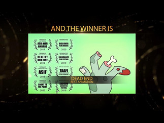 DEAD END Wins Best Animation @ Sicily Web Fest
