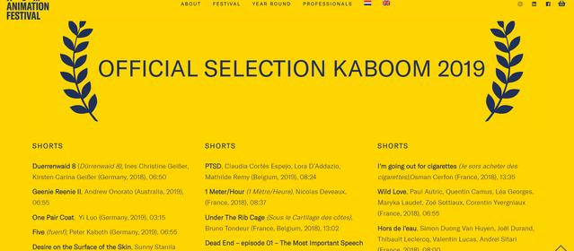 DEAD END at Raindance Film Festival & Kaboom Animation Festival!