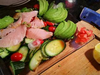 Sashimi and Avocado Salad