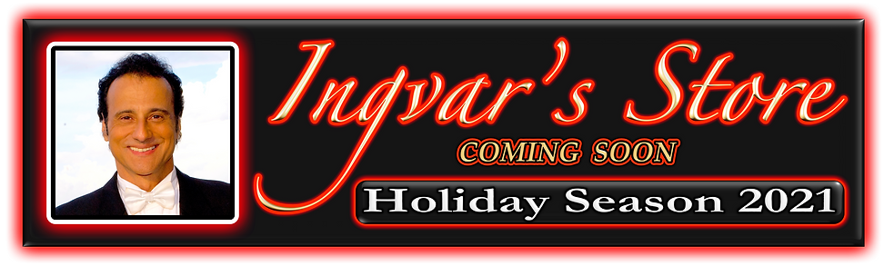 INGVAR'S STORE - COMING SOON - HOLIDAY S