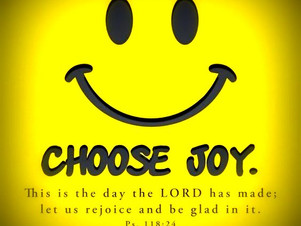 CHOOSE TO BE GRATEFUL & HAPPY = BLESSED!