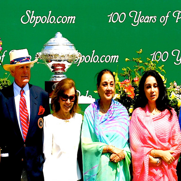 "USPA LUCCHESE AMERICA'S CUP - SANTA BARBARA POLO CLUB - ROYALTY OF JAIPUR - THE RAHANI - PADMINI DEVI - AND PRINCESS - DIYA KUMARI - INGVAR SINGS ""SENSATIONAL"""