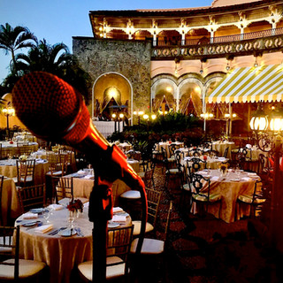 """MAR-A-LAGO - OUTSIDE TERRACE - INGVAR SANG FOR THE FORMER PRESIDENT OF THE UNITED STATES - PRESIDENT TRUMP - QUOTED INGVAR AS AN """"AMAZING VOICE!"""""""