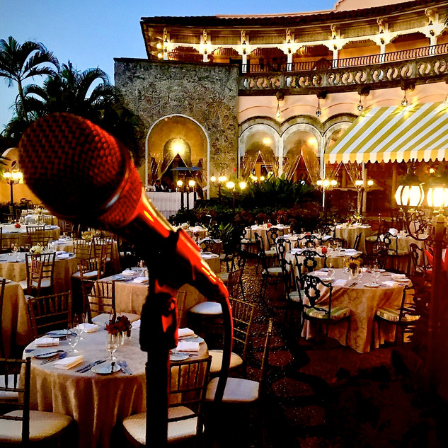 "MAR-A-LAGO - OUTSIDE TERRACE - INGVAR SANG FOR THE FORMER PRESIDENT OF THE UNITED STATES - PRESIDENT TRUMP - QUOTED INGVAR AS AN ""AMAZING VOICE!"""