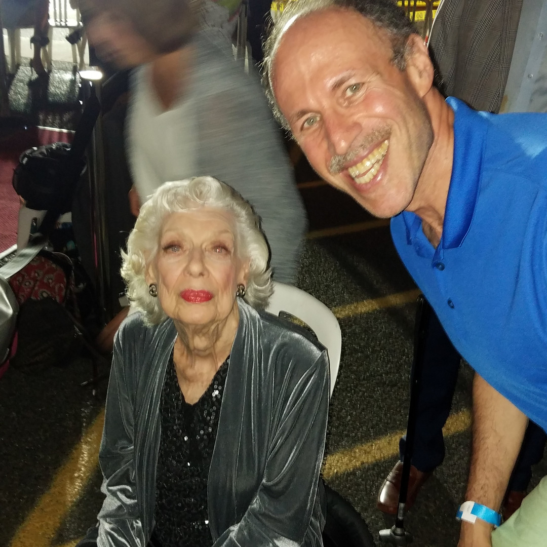 Eli with Joyce Randolph (Trixie from the Honeymooners)