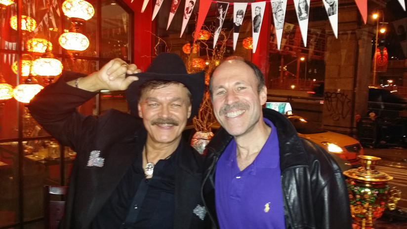 Eli with Randy Jones (The Village People)