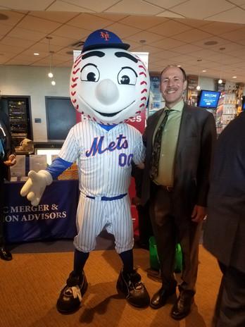 Eli with Mr. Met