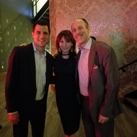 Eli with Marilu Henner (Taxi) & Broadway Producer Ken Davenport